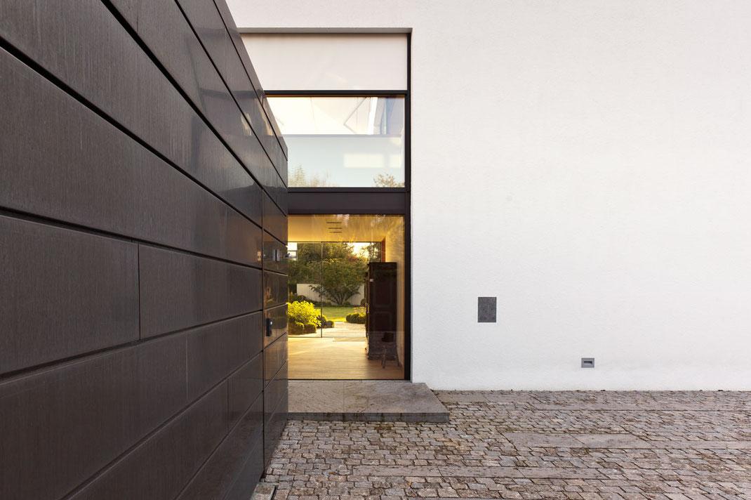 Architektenhaus, Detail Glasfassade, Architektur von Stephan Maria Lang