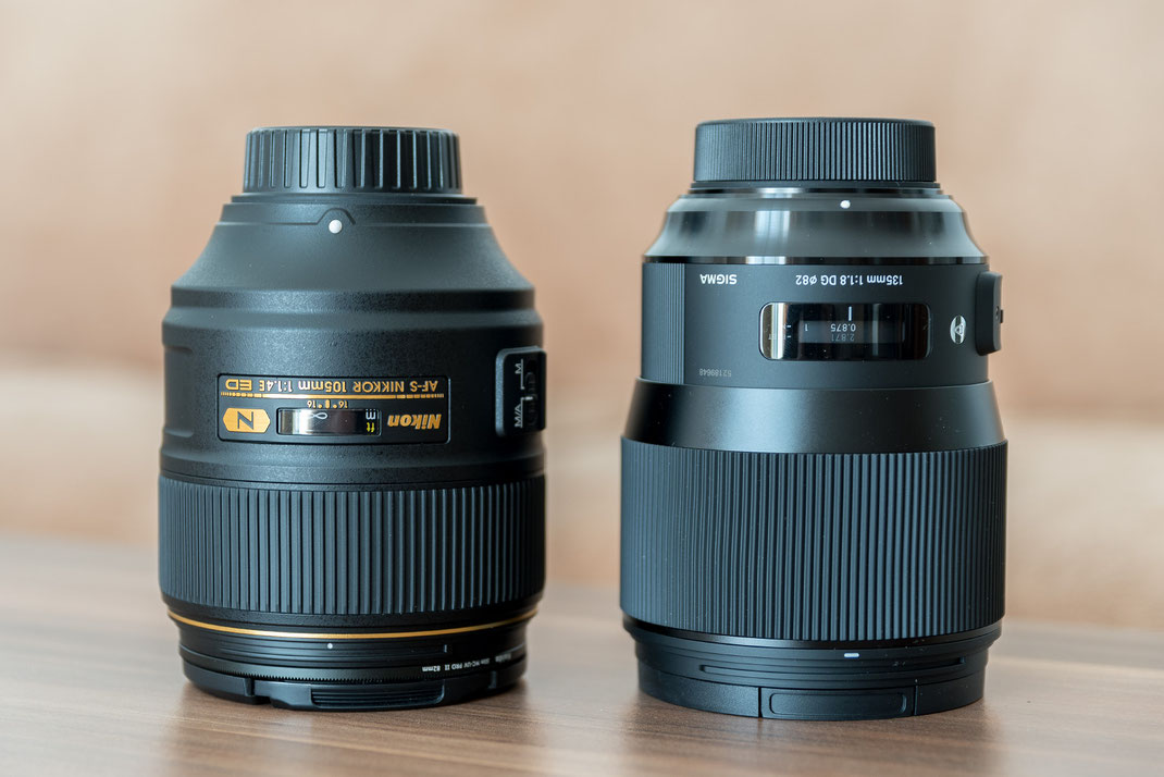 Sigma 135mm f/1.8 ART vs. Nikon 105mm f/1.4 E Review