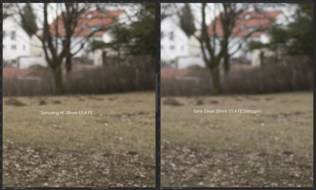 Samyang AF 35mm f/1.4 FE vs. Sony Zeiss 35mm f/1.4 Distagon, Bokeh.