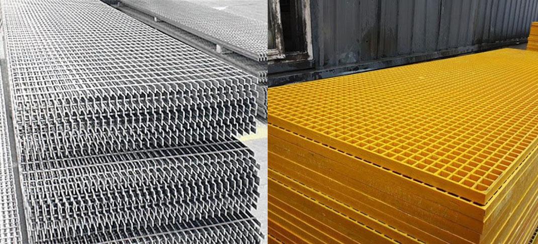 Diferencias entre rejilla irving de fibra de vidrio vs acero