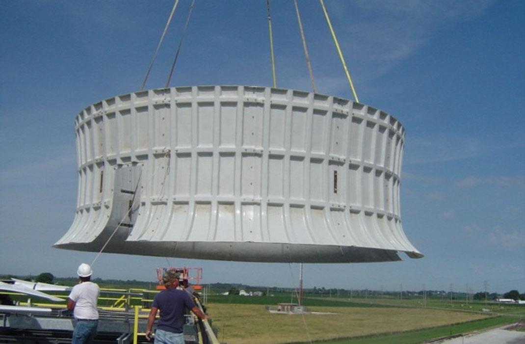 Chimeneas para Torre de Enfriamiento fabricada en FRP