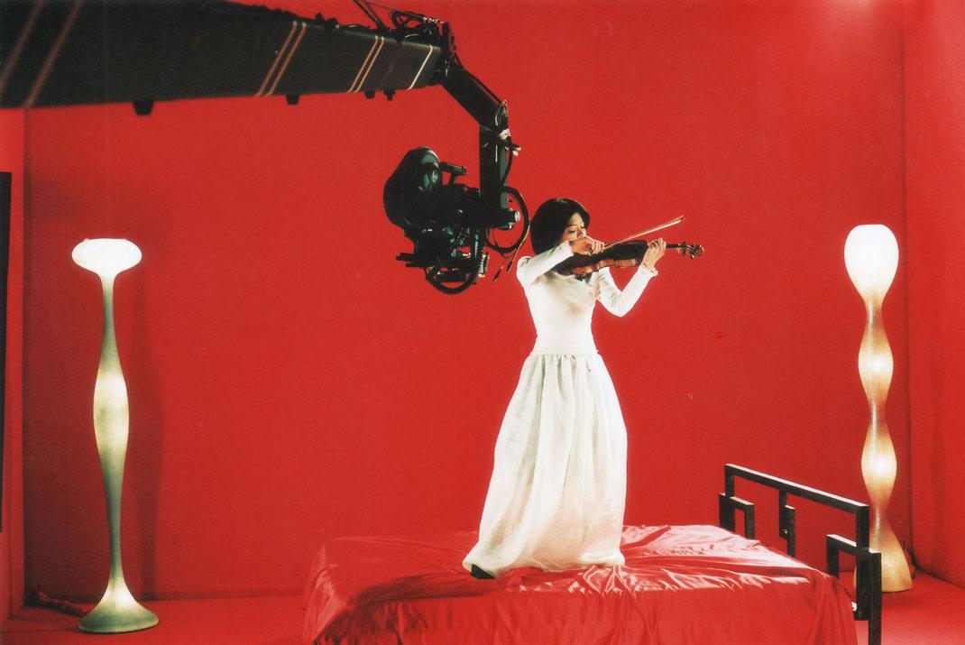 Vanessa Mae Violin - Music Video Shoot - Stanton Triangle Palma de Mallorca - Camera Remote Heads - Gimbal - Ronin II - Hot Head Palma - Oneman Jimmy Jib