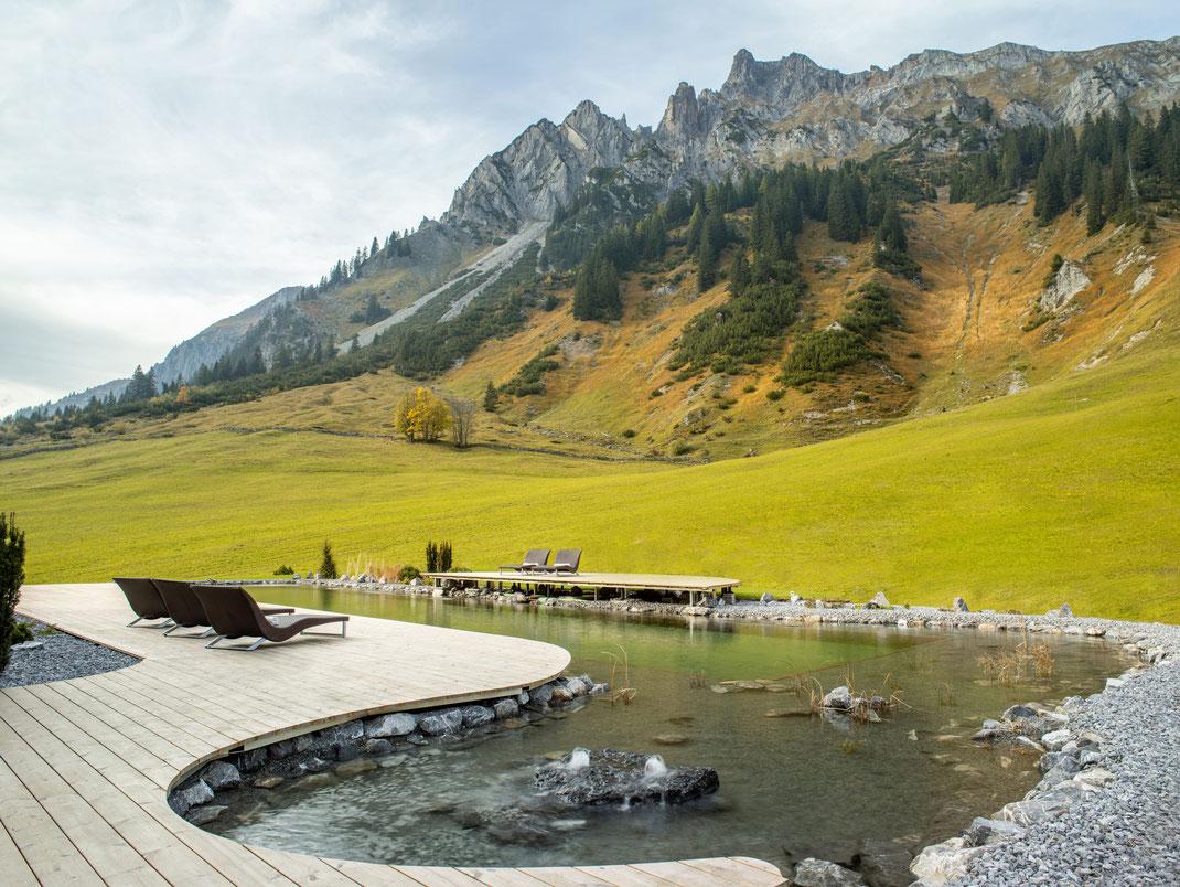 Schwimmteich Arlberg Stuben