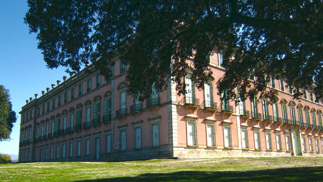 Fachada Palacio Real de Riofrío en Segovia