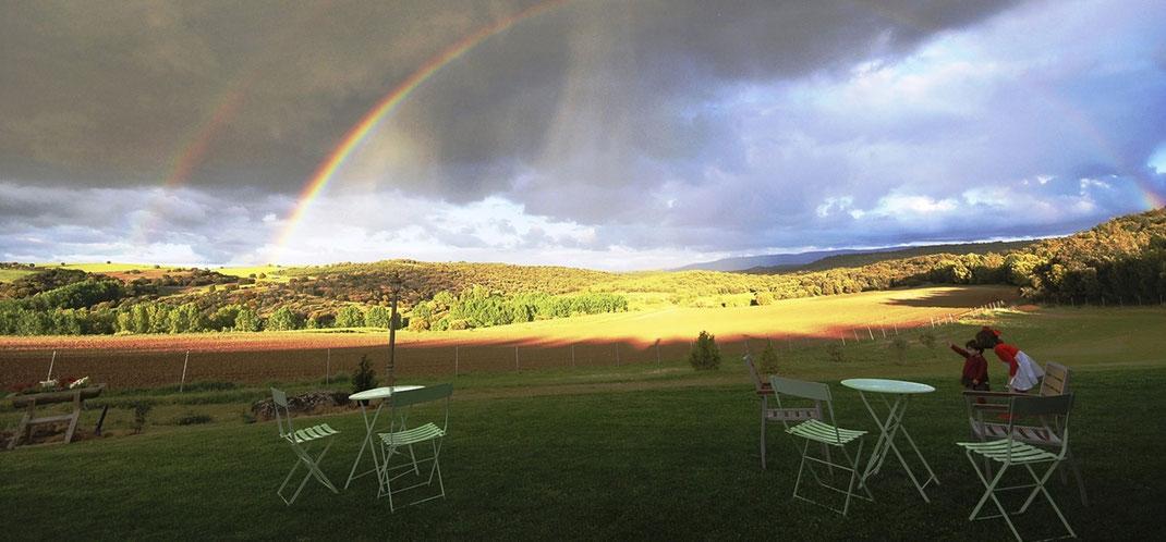 Vistas desde el Hotel Rural Del Verde al Amarillo