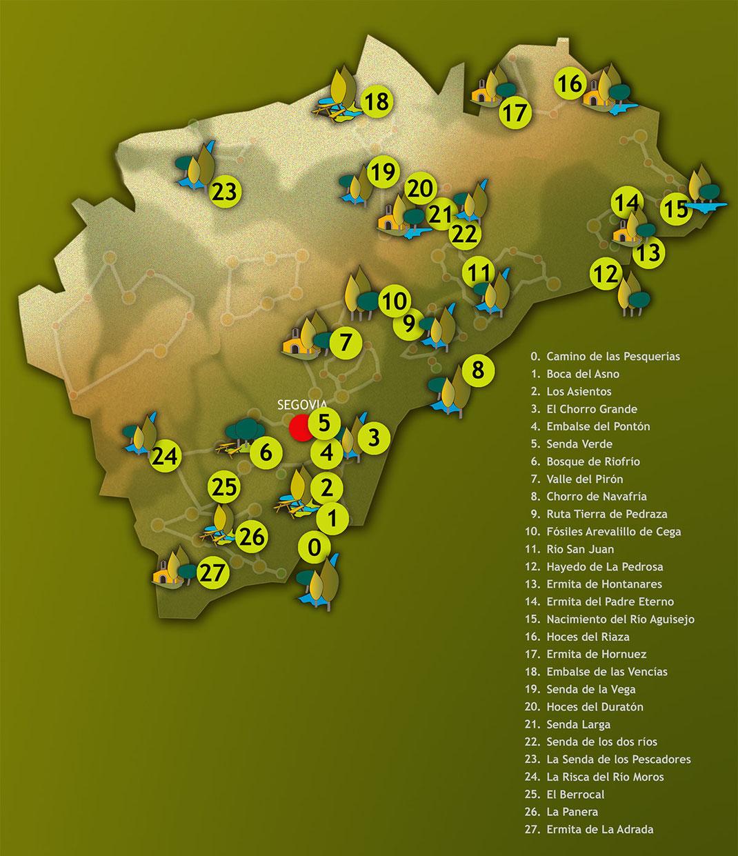 Espacios naturales de la provincia de Segovia
