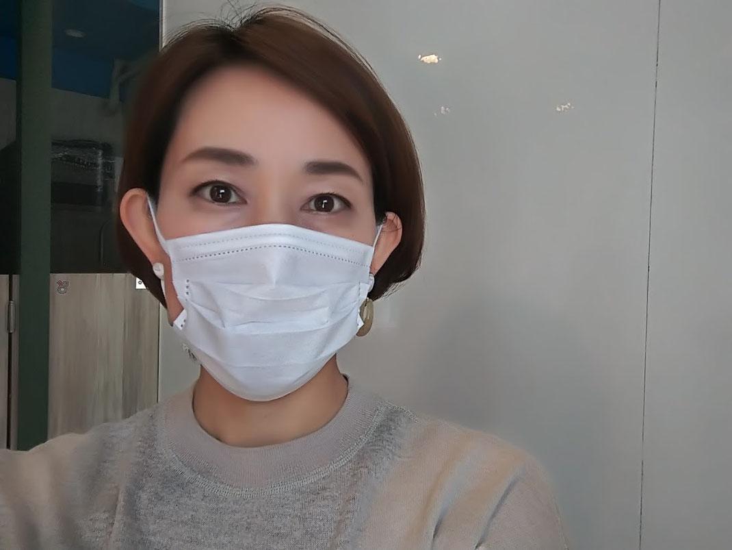 暫くはマスク着用です