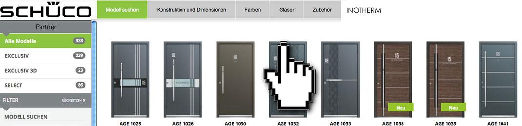 Alu Haustüren online konfigurieren in Mönchengladbach - Anfrage senden Inotherm