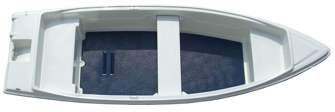 Höfner 400R. Ein Ruderboot Fischerboot Badeboot mit grossem ebenen Fußboden. Höfner-Boote®