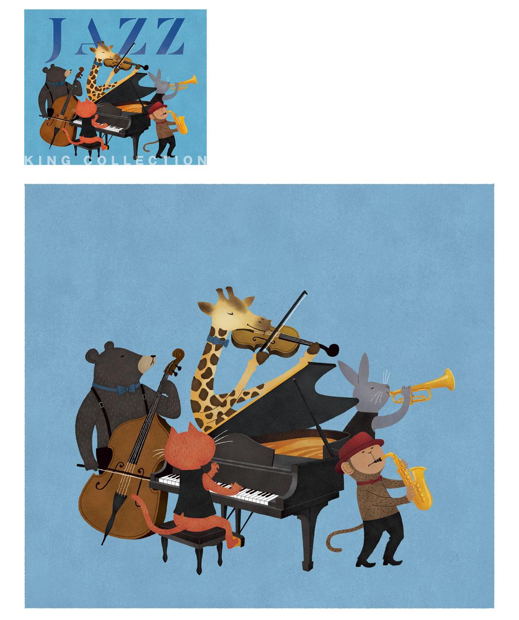 ジャズ 動物 演奏 CDジャケット