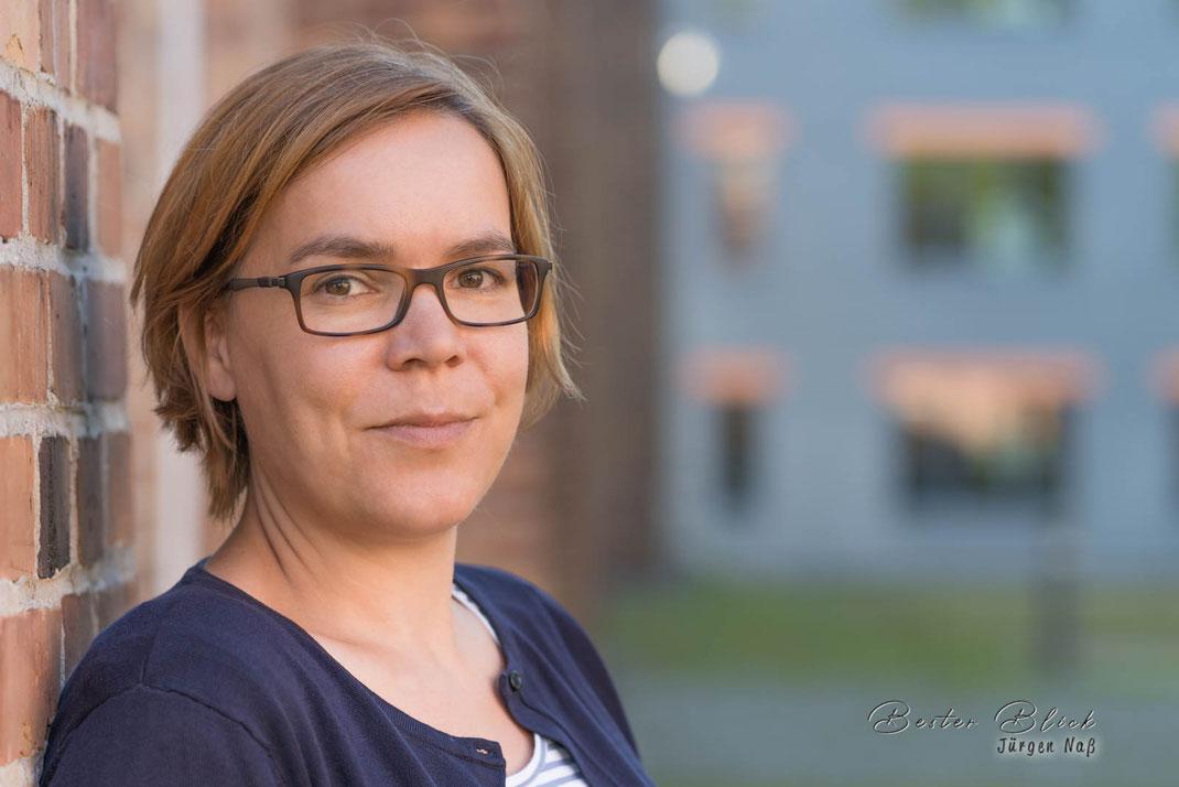 Annegret Jesorlowitz-Scheller beim Vorab-Shooting