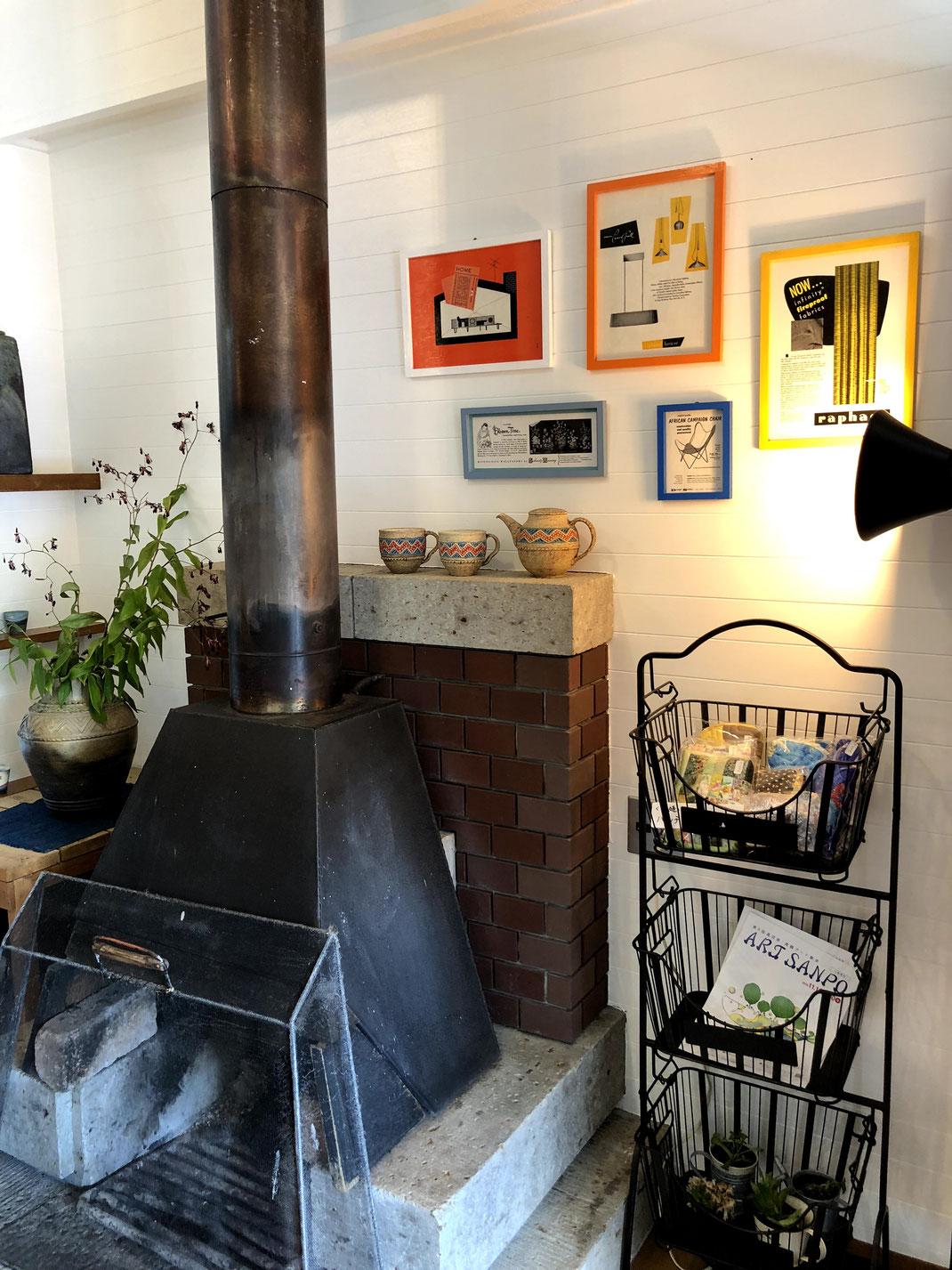 暖炉とアメリカンマガジンアド