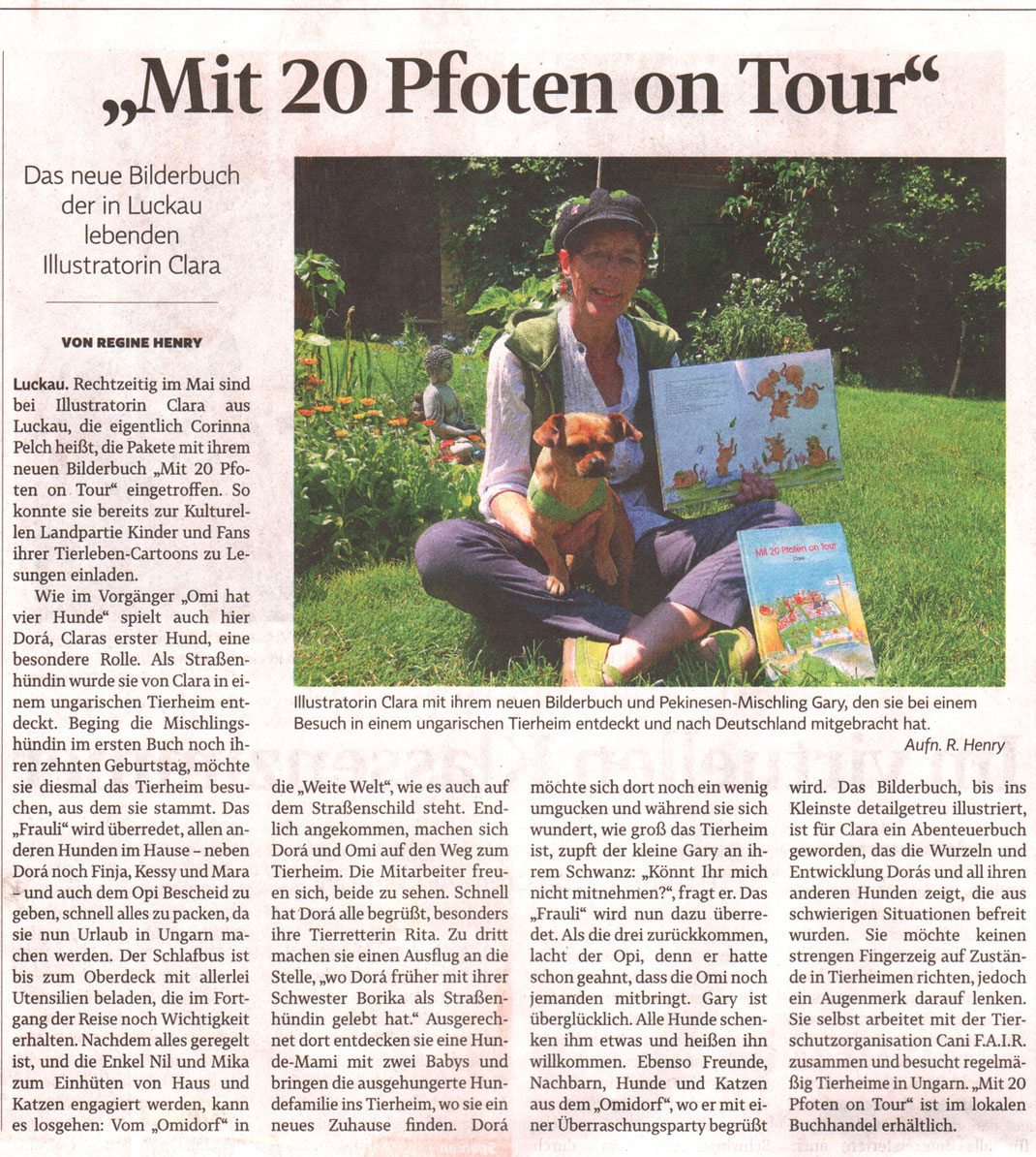 Regine Henry, Elbe-Jeetzel-Zeitung vom 27. Juni 2019