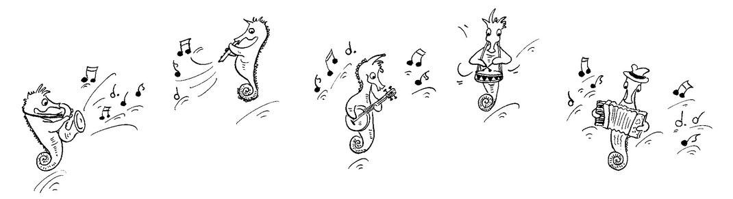 Seepferdchen Illustrationen