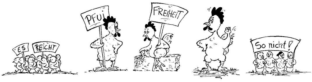 Hühner gegen Tierquälerei