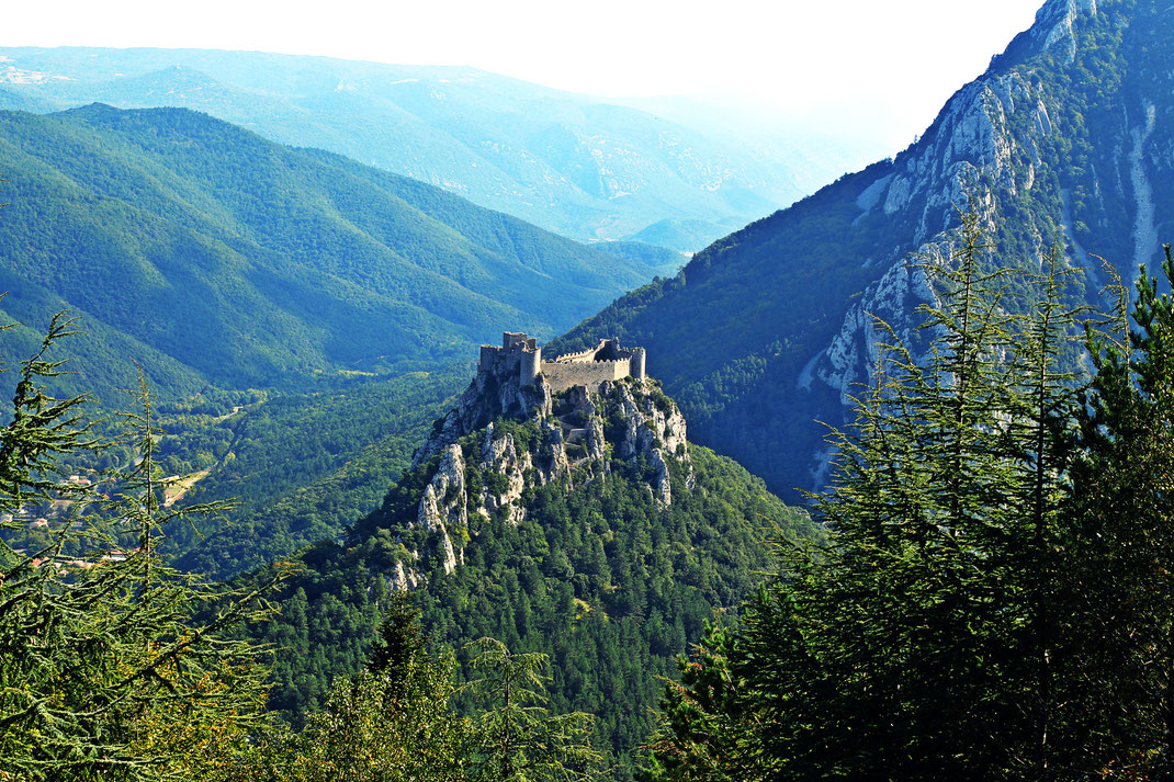 Château de Puilaurens - La Serre des Aiguilles - Espace VTT Aude en Pyrénées