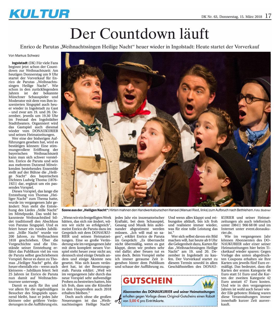Donaukurier gesamt, Kultur vom 15.3.2018