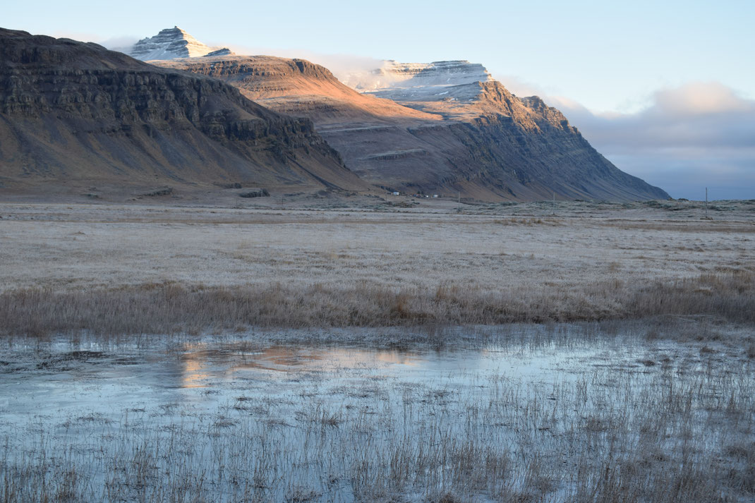 mountains and ice, East Fjords in November, Iceland