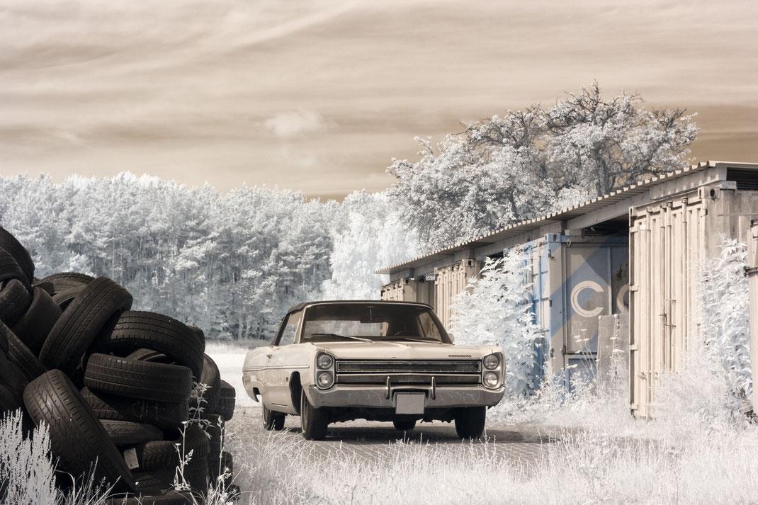 Oldtimer, car, Plymouth, Infrarot, Holger Nimtz, Infrared, Fotografie, Photography, Infrarotaufnahme, IR,