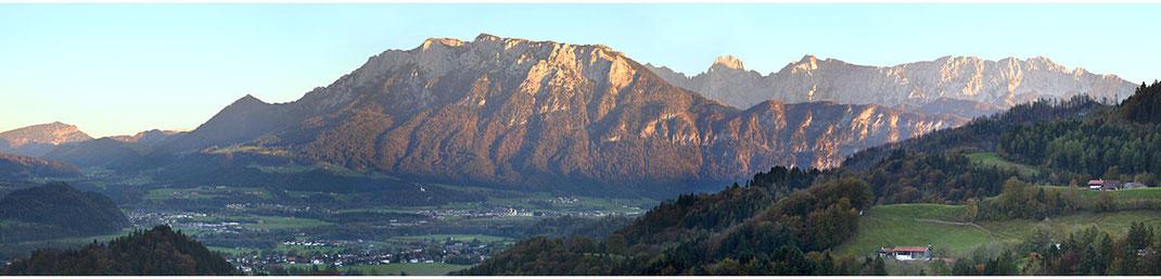 Oberaudorf und Bergpanorama Wilder Kaiser