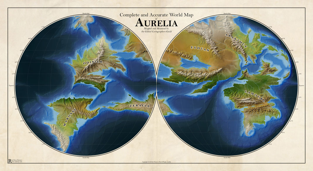 Aurelia – World Map - Caenwyr Cartography
