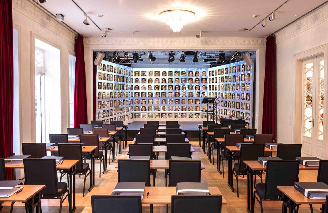 Live-Hybrid Events mit 300 Teilnehmern © Theater im Zimmer GmbH Hamburg 2020 (GAN-Faces)