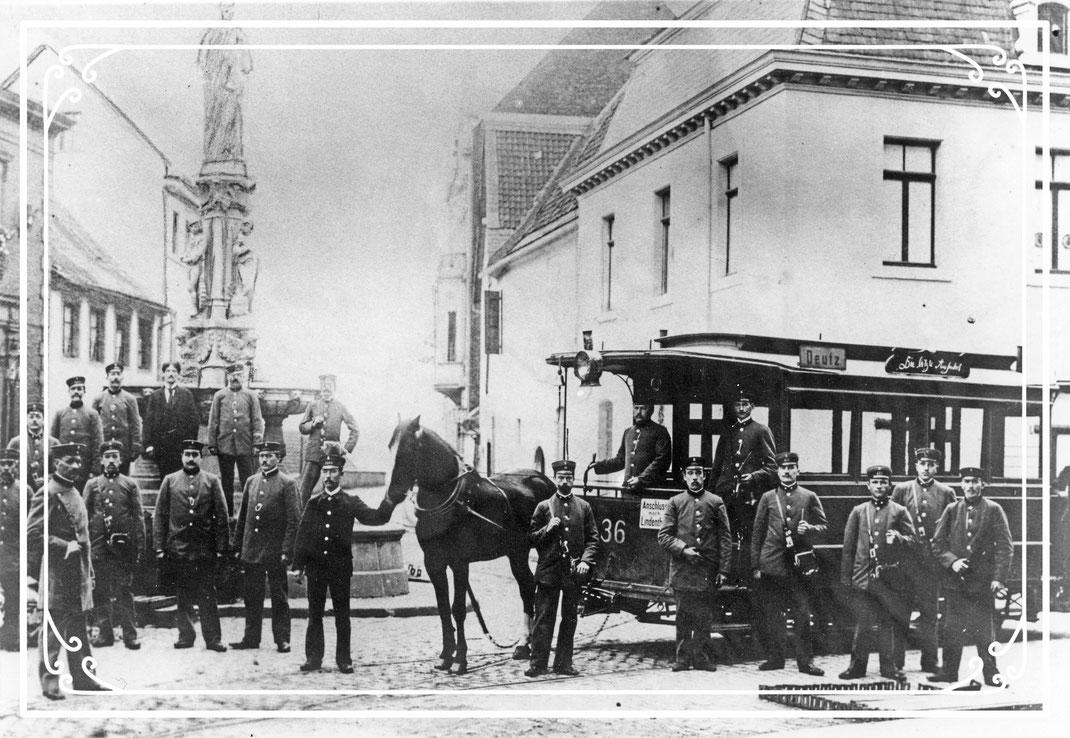 Die letzte Fahrt der Päädsbahn 1903. Foto: Stadtkonservator Köln/Rheinisches Bildarchiv