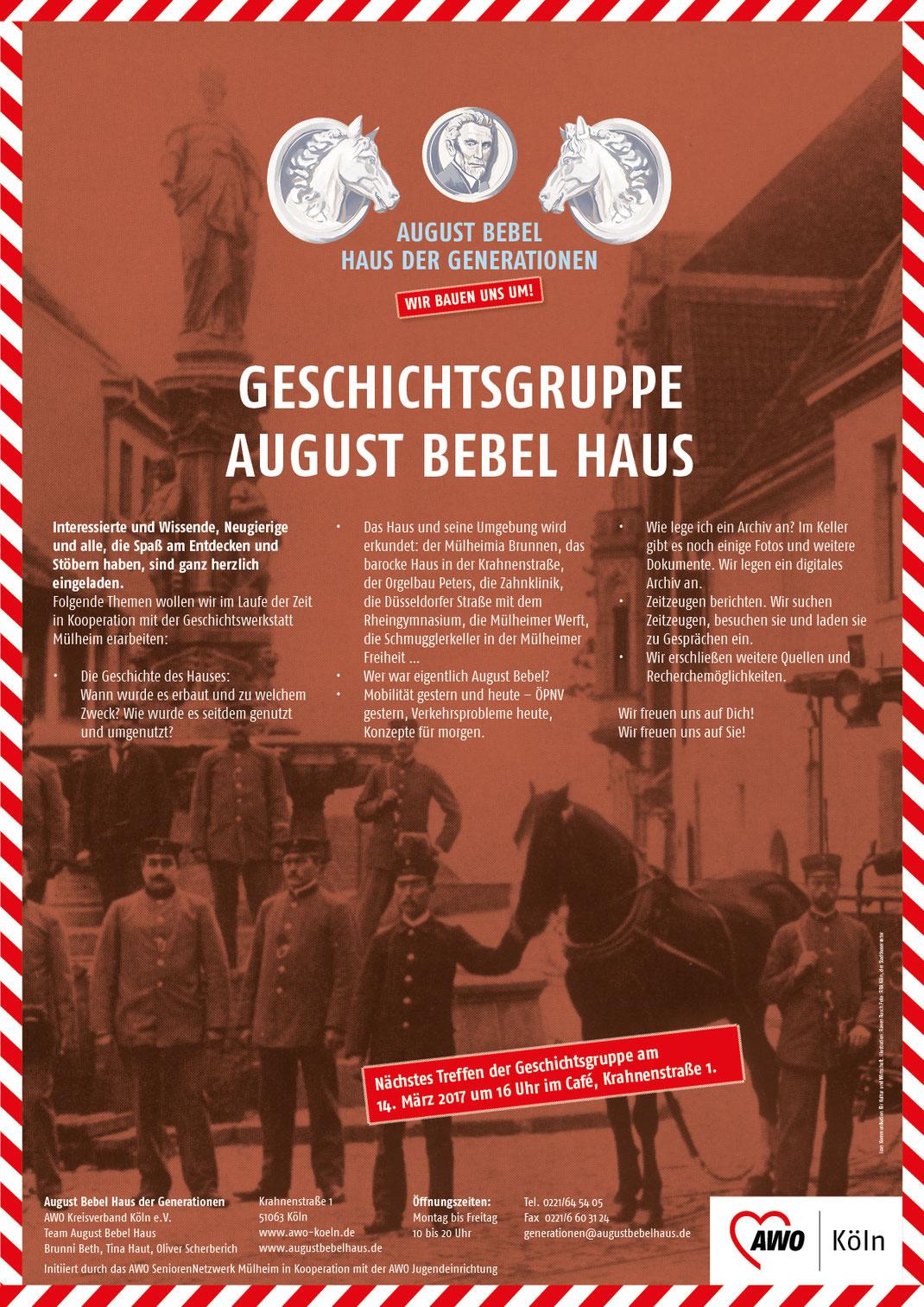 Plakat unter Verwendung eines Fotos von 1904, Der Stadtkonservator Köln