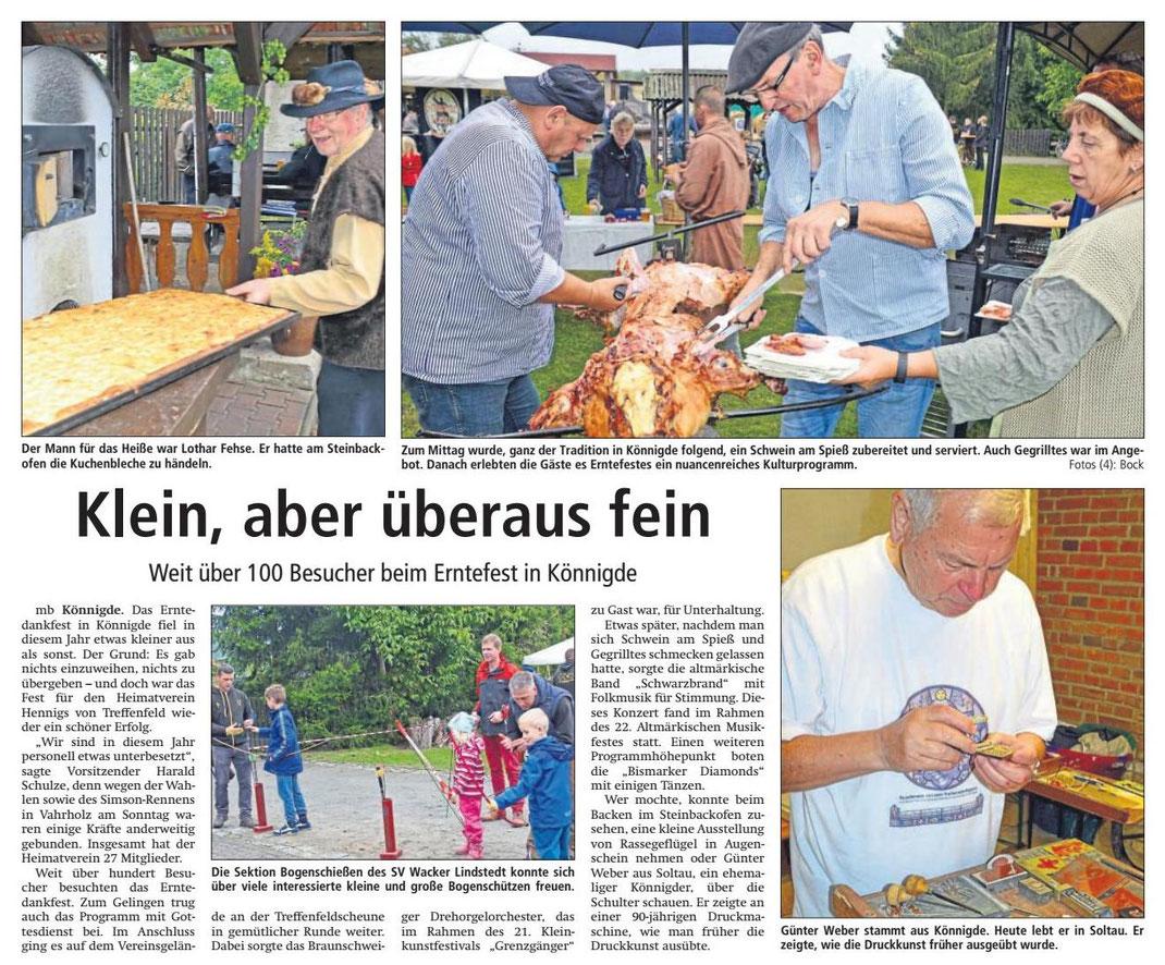 Altmark-Zeitung vom 29.09.2017, von Maik Bock