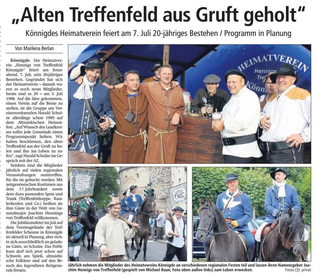 Altmark-Zeitung vom 02.05.2018, von Marilena Berlan