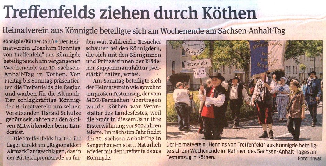 Volksstimme vom 04.06.2015, Axel Junker