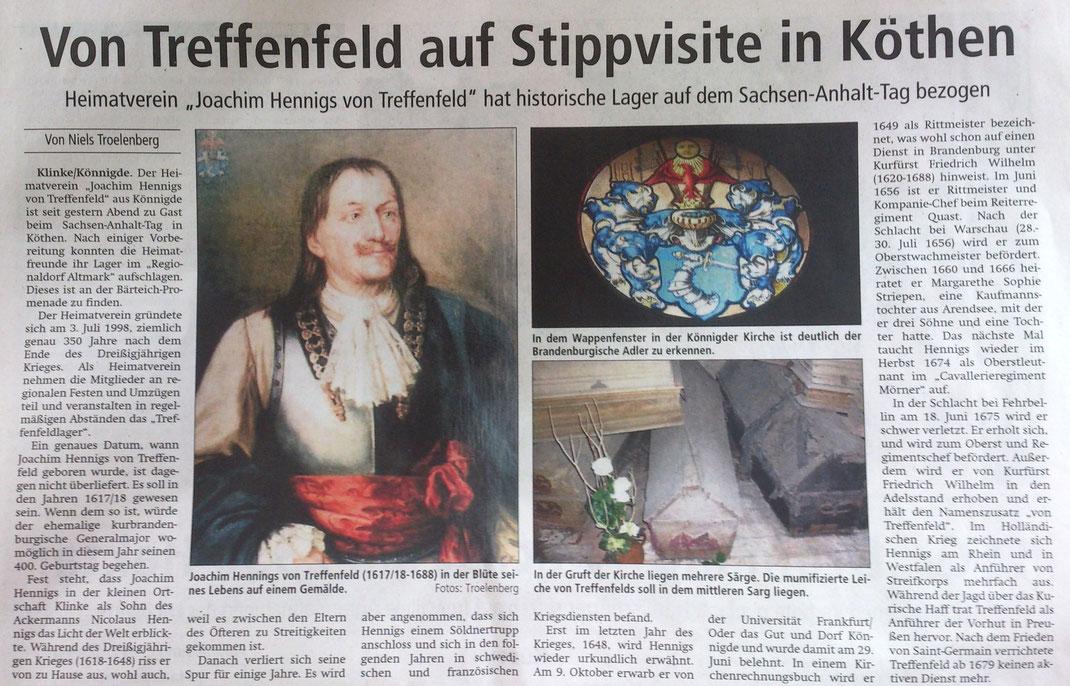 Altmark-Zeitung vom 30.05.2015, Niels Troelenberg