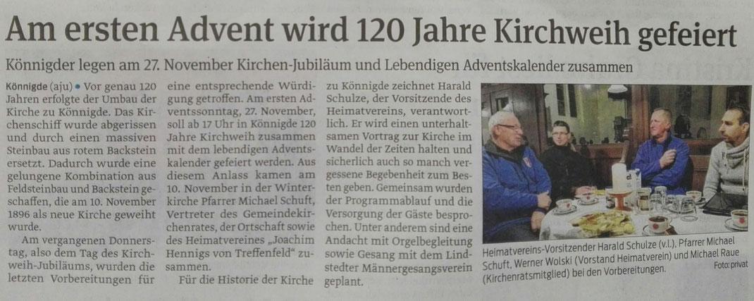 Volksstimme vom 14.11.2016, von Axel Junker