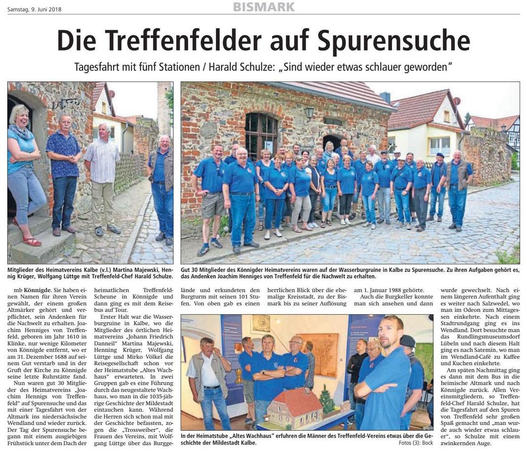 Altmark-Zeitung vom 09.06.2018, von Maik Bock