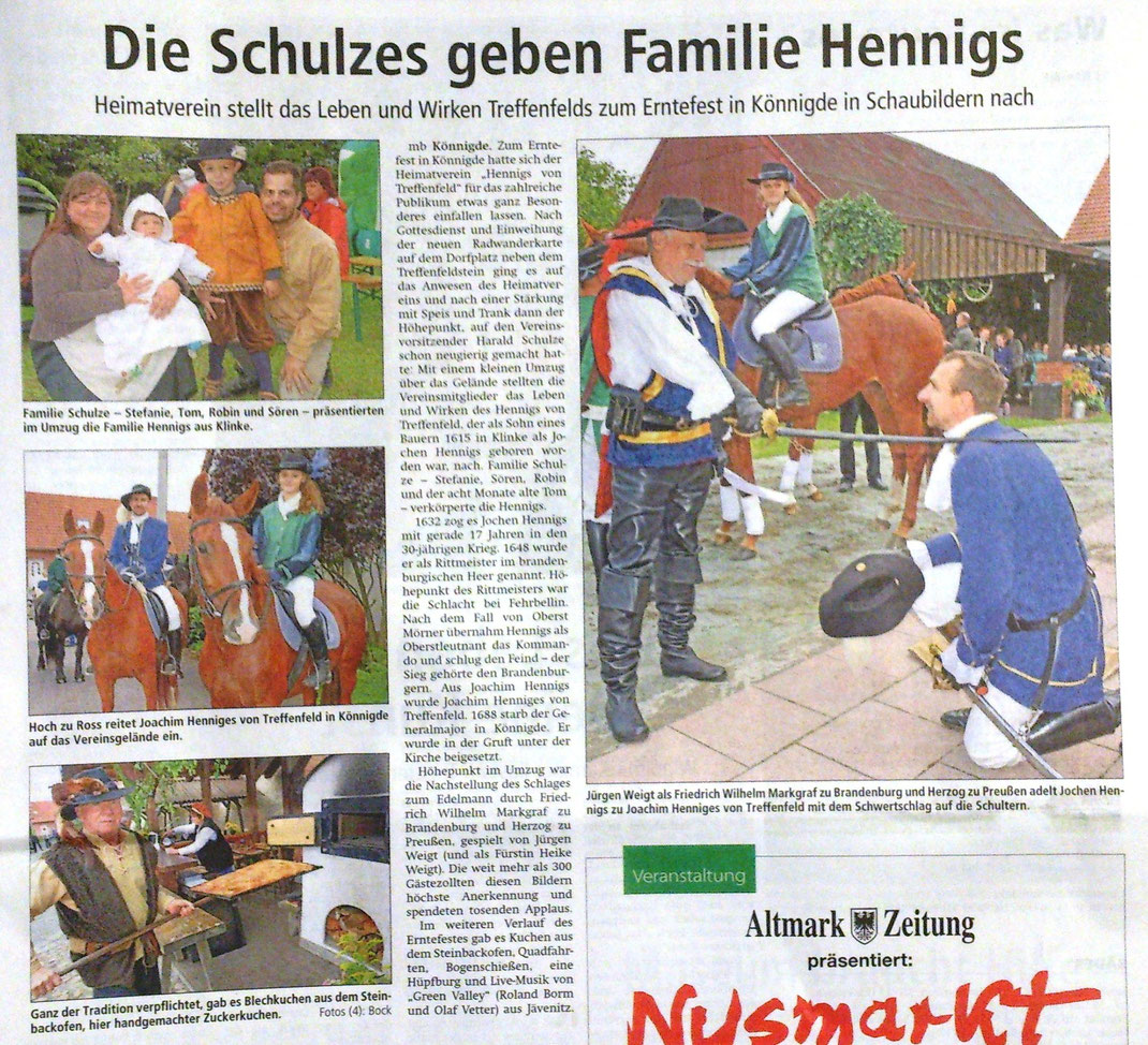 Altmark-Zeitung vom 26.09.2015, von Maik Bock