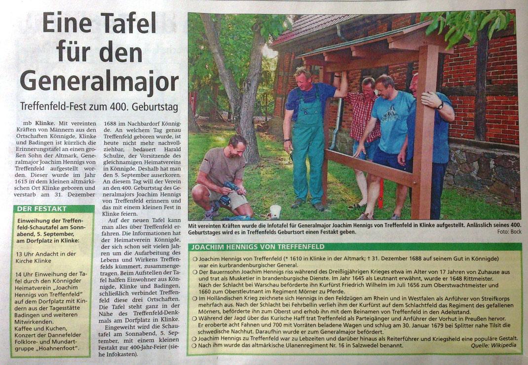 Altmark-Zeitung vom 20.08.2015, Maik Bock