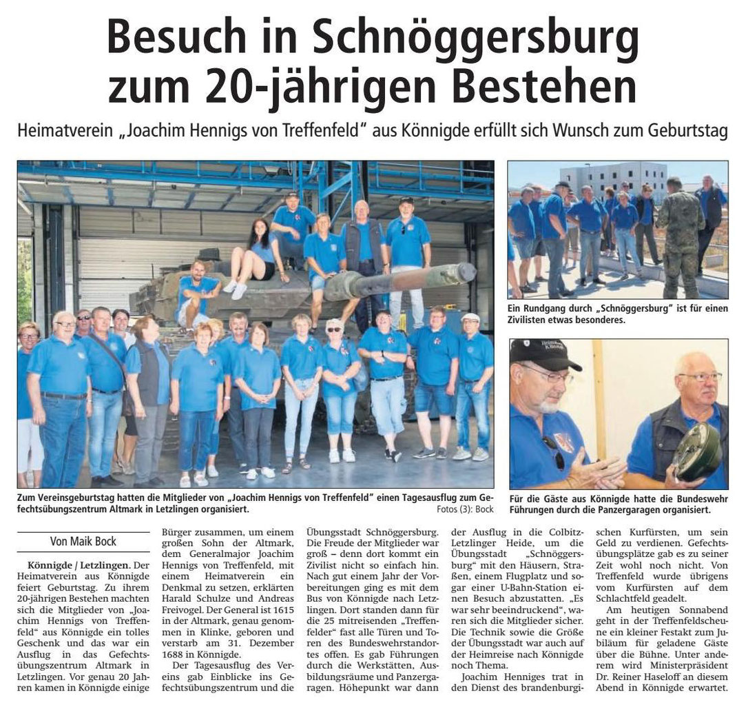 Altmark-Zeitung vom 07.07.2001, von Maik Bock