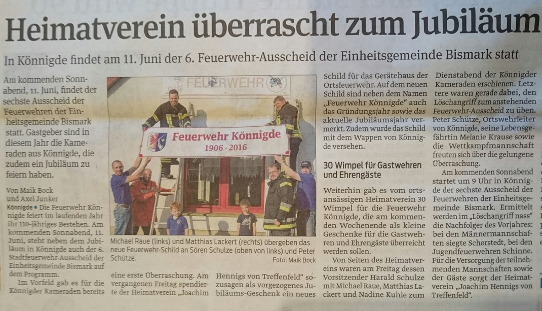 Volksstimme vom 06.06.2016, von Maik Bock und Axel Junker