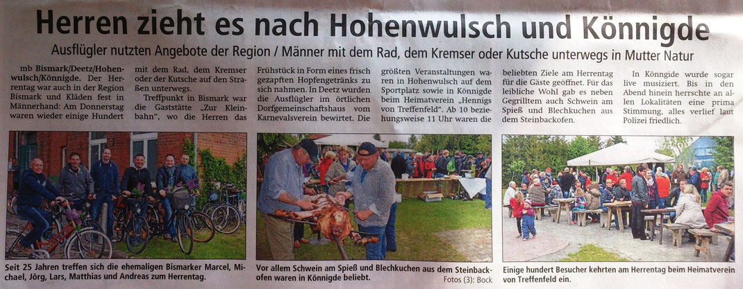 Altmark-Zeitung vom 16.05.2015, Maik Bock