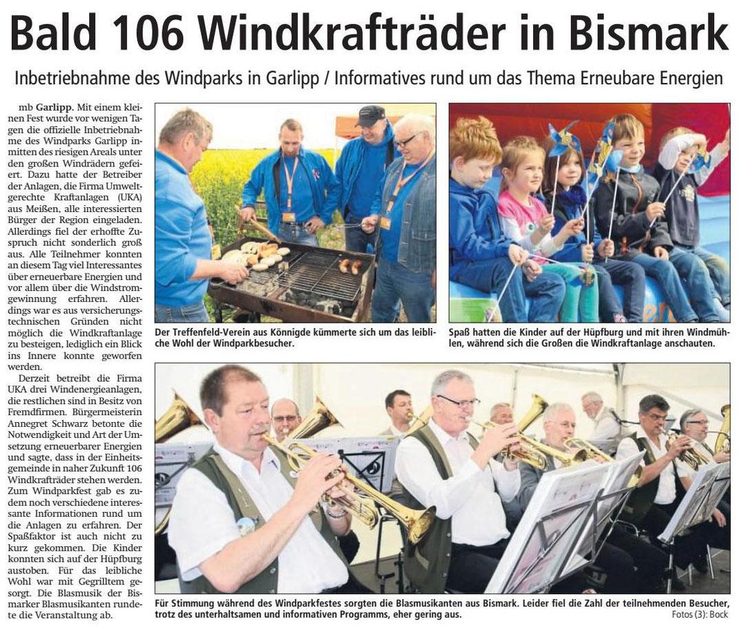 Altmark-Zeitung vom 05.05.2018, von Maik Bock