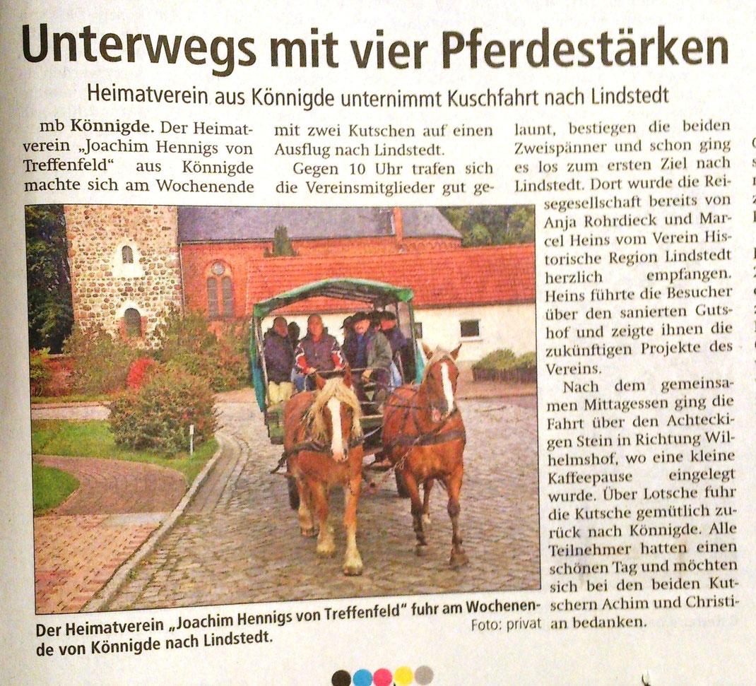 Altmark-Zeitung vom 13.10.2015 von Maik Bock