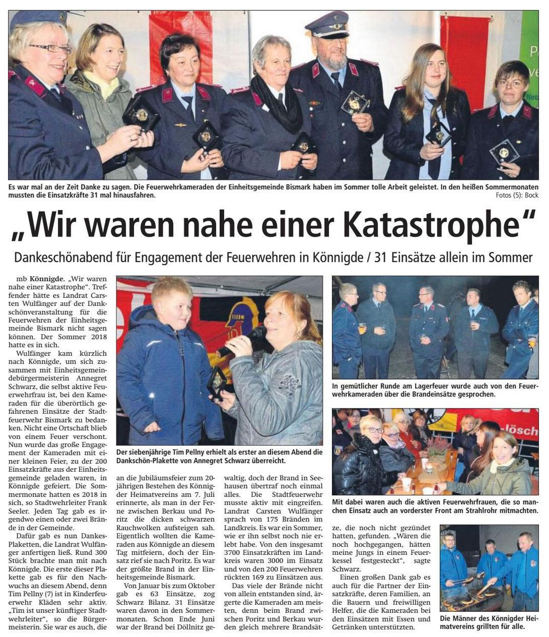 Altmark-Zeitung vom 13.11.2018, von Maik Bock