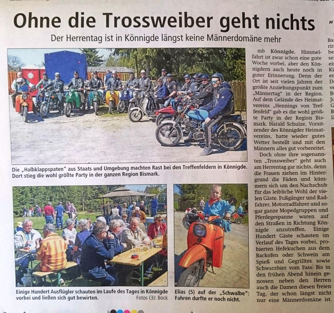 Altmark-Zeitung im Mai 2016
