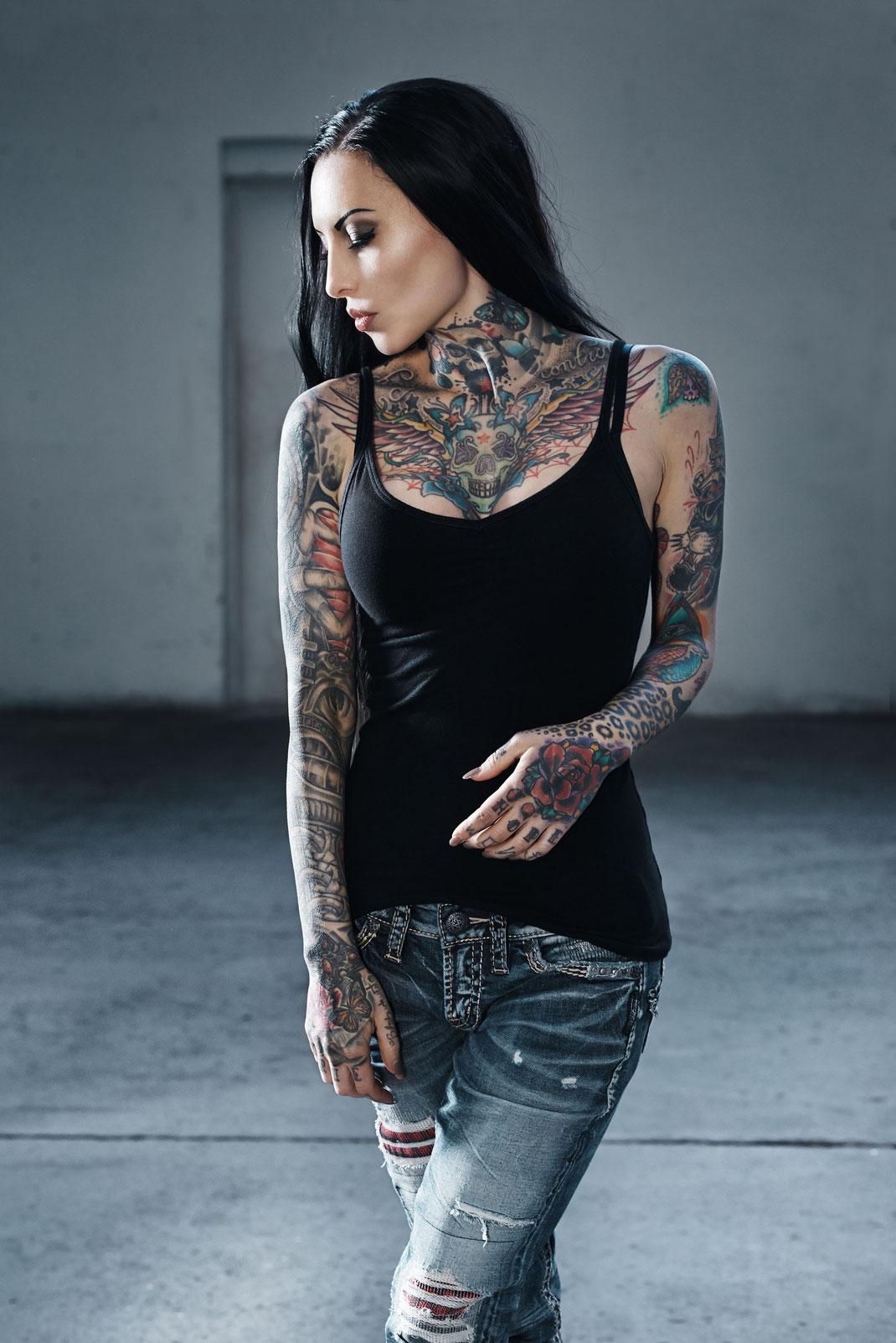 Portrait Tattoo Model Makani Terror by Martin Boelt Photography