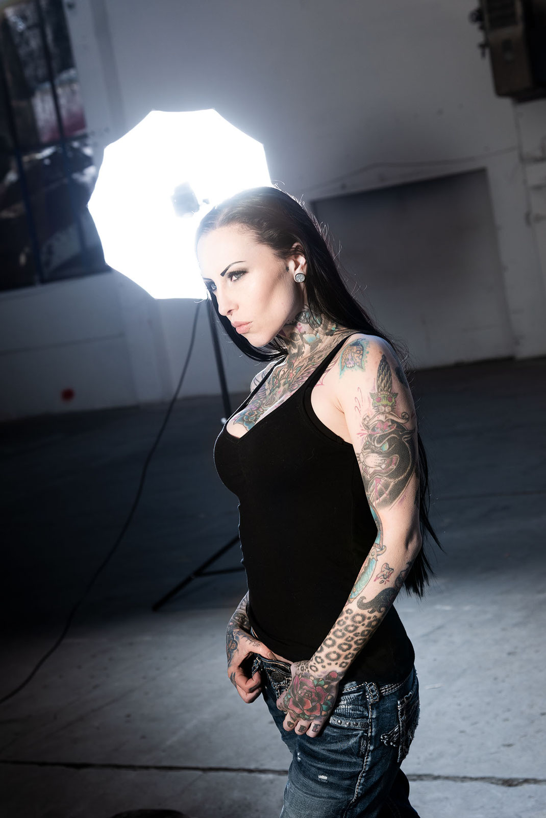 Backstage Tattoo Model Makani Terror