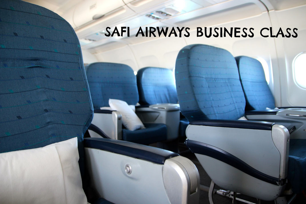 Safi airways business class cabin a319