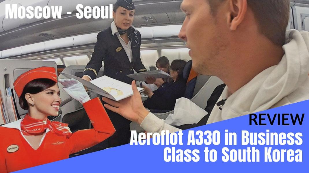 Aeroflot Russian Airline A330 Business Class