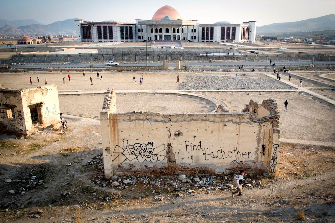 the new afghan parliament in kabul