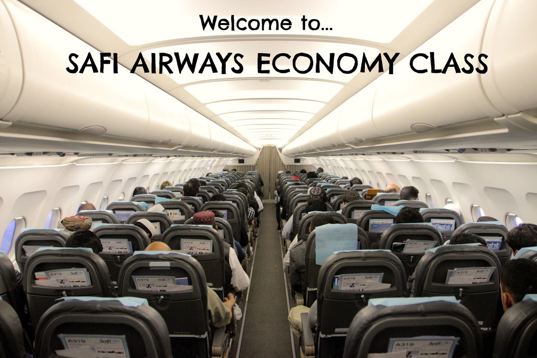 Safi airways economy cabin a319