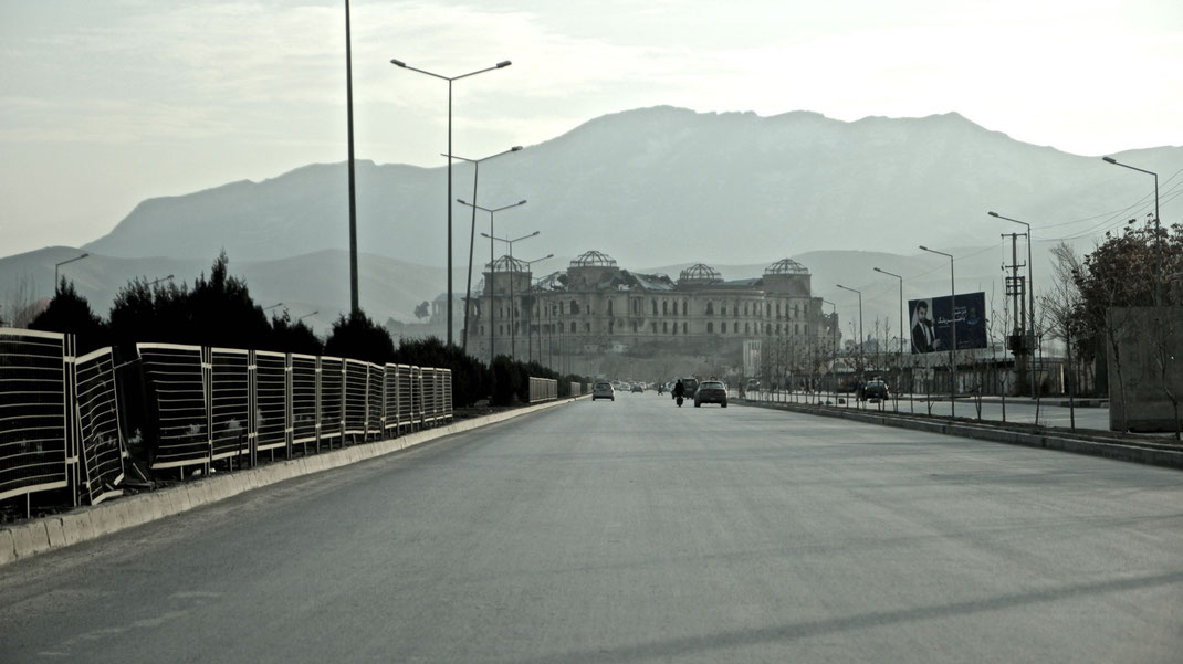 road leading to the darul aman palace